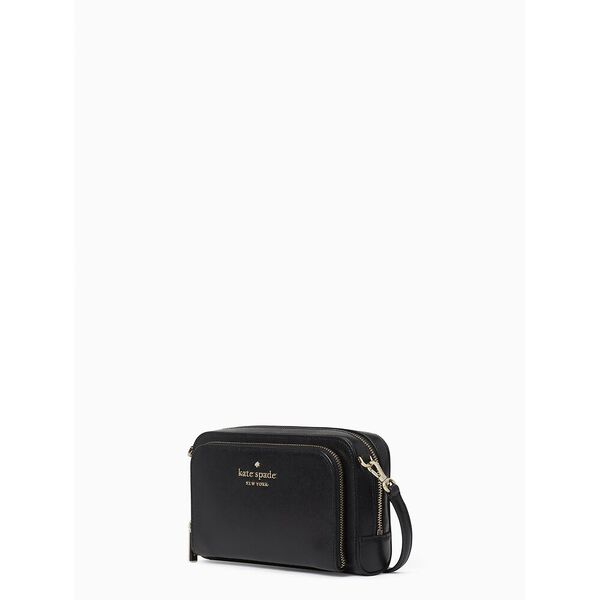 staci dual zip around crossbody, black, hi-res