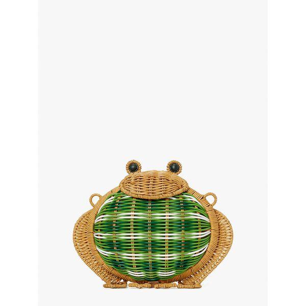 hoppkins wicker frog crossbody, green multi, hi-res