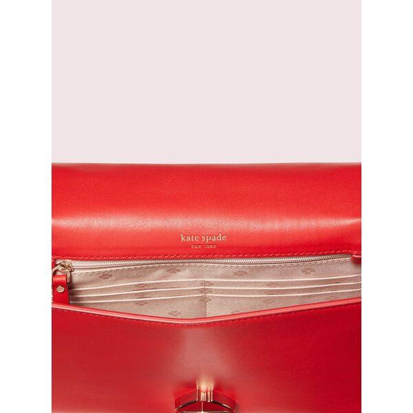 amelia twistlock medium convertible chain shoulder bag, hot chili, hi-res