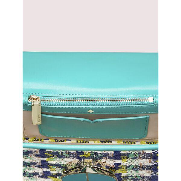 nicola tweed twistlock small convertible chain shoulder bag, fiji green multi, hi-res