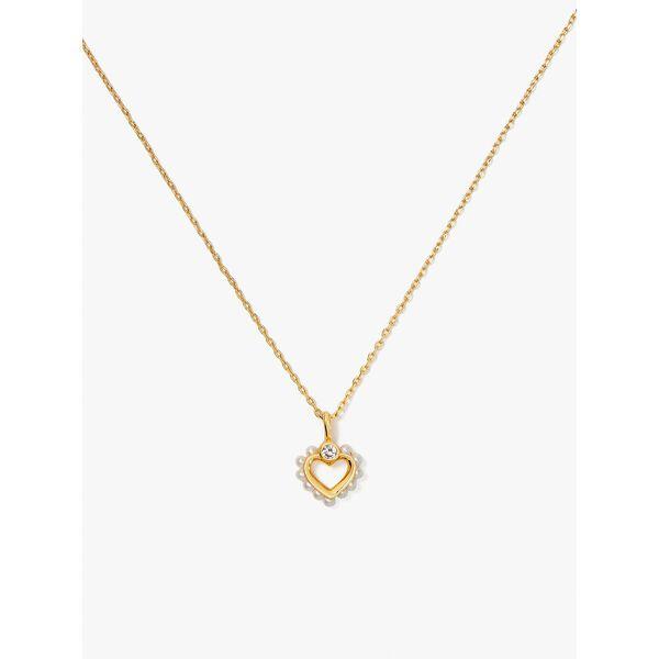 shining spade pearl mini pendant, cream, hi-res
