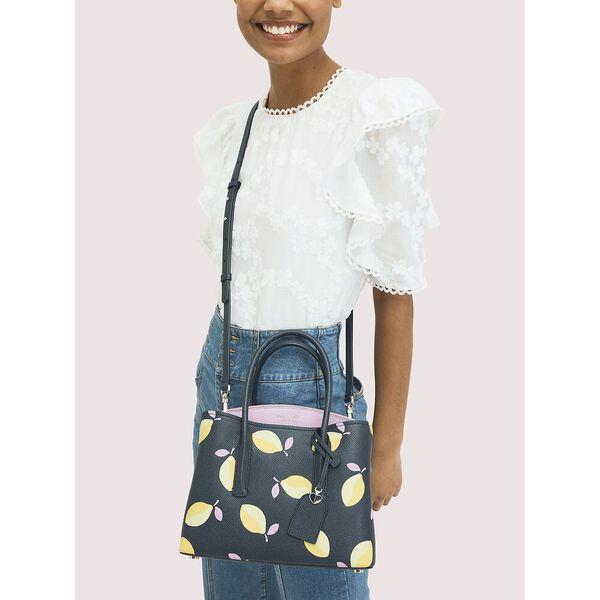 margaux lemons medium satchel, BLUE MULTI, hi-res