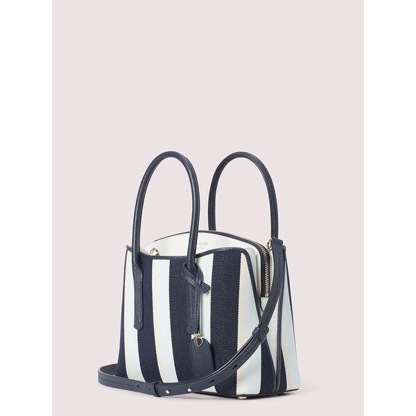 margaux canvas stripe medium satchel, blazer blue multi, hi-res