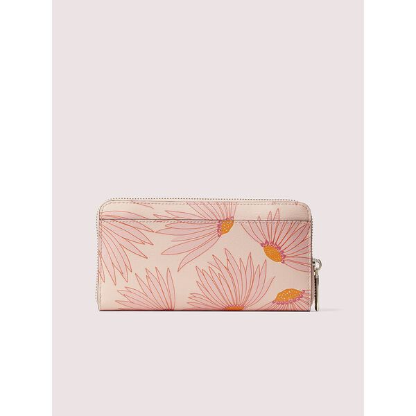 spencer falling flower zip-around continental wallet, pink multi, hi-res