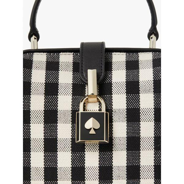 remedy gingham small top-handle bag, blackmulti, hi-res