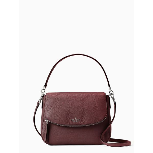 jackson medium flap shoulder bag, CHERRY WOOD, hi-res