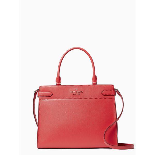 staci large satchel, digital red, hi-res
