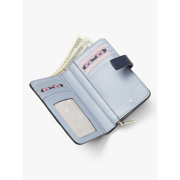 spencer paper boats compact wallet, squid ink multi, hi-res
