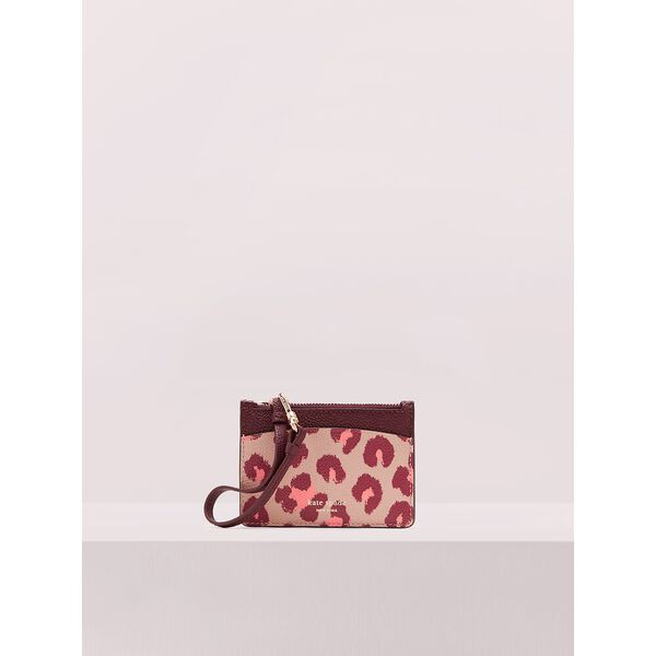 margaux leopard card holder wristlet