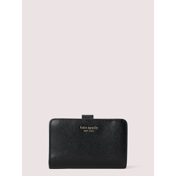 spencer compact wallet, black, hi-res