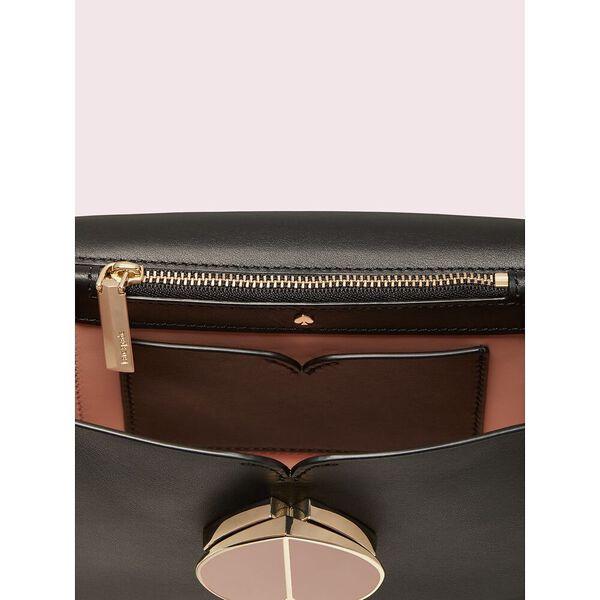 nicola twistlock small shoulder bag, black, hi-res
