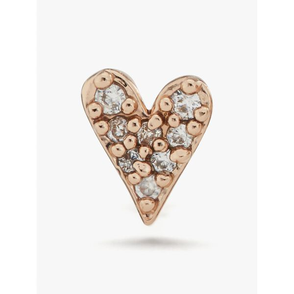 sweetheart mini studs, clear/rose gold, hi-res