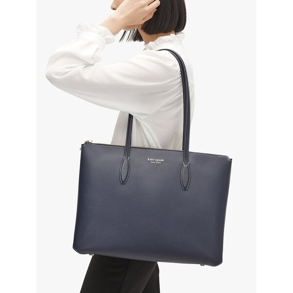 all day large zip-top tote, blazer blue, hi-res