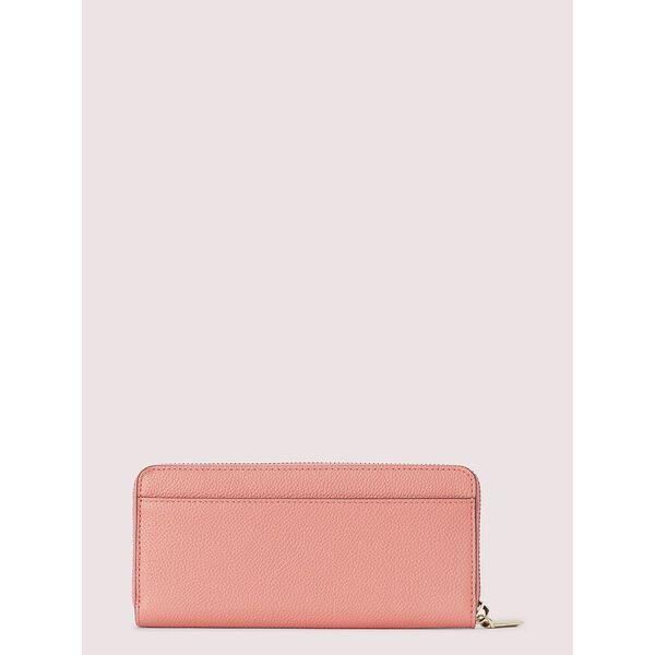 margaux slim continental wallet, lychee, hi-res