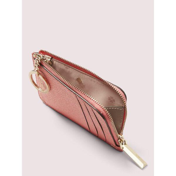 margaux zip cardholder, lychee, hi-res