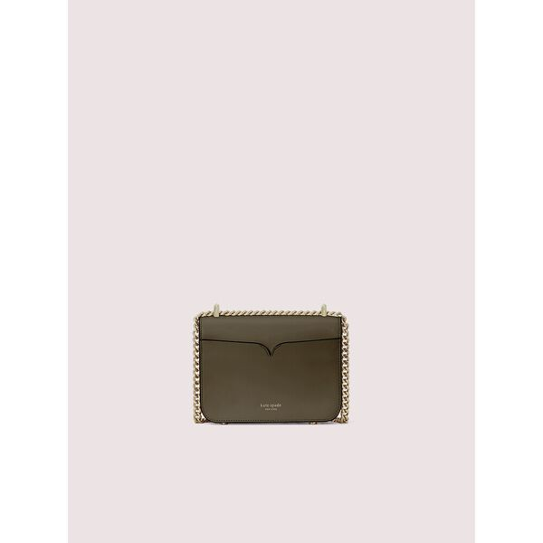 nicola wicker twistlock small convertible chain shoulder bag, olive, hi-res