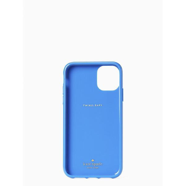 iphone cases kate spade logo iphone 11 case, bright sapphire, hi-res