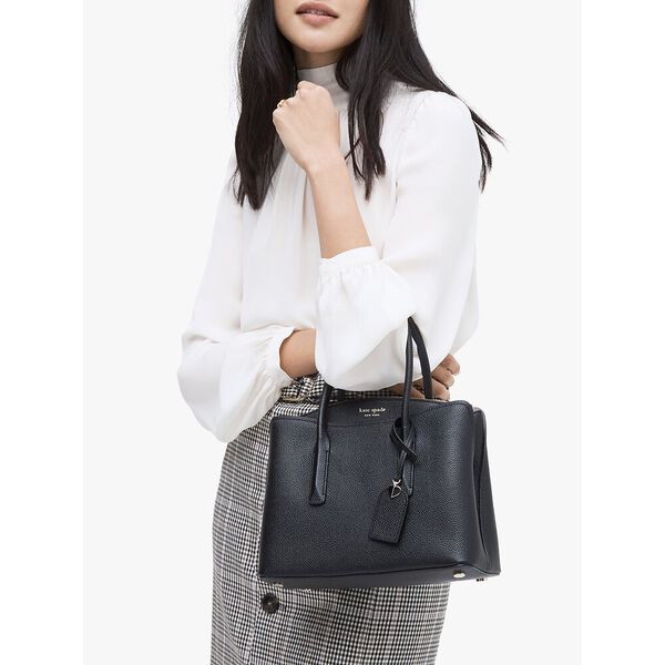 margaux medium satchel, black, hi-res