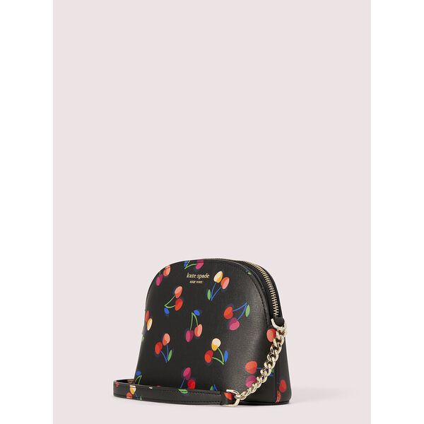 spencer cherries small dome crossbody, BLACK MULTI, hi-res