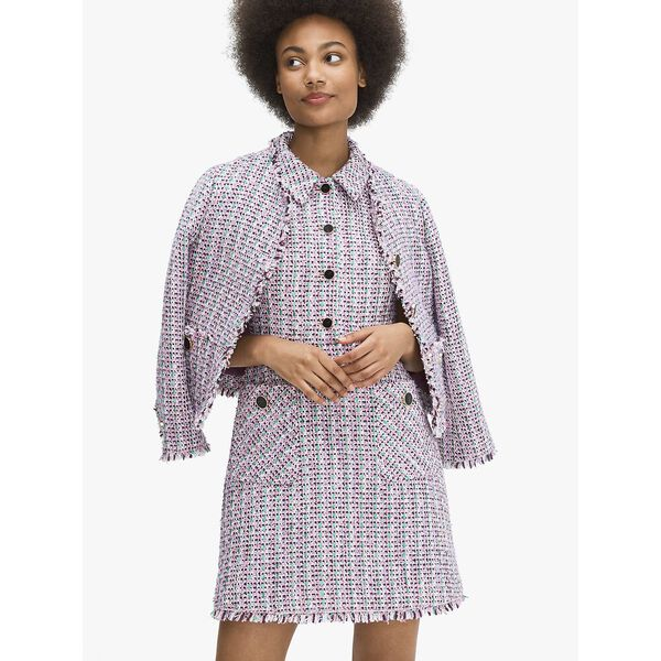 enchanted tweed shirtdress, CHKPNKMLTI, hi-res