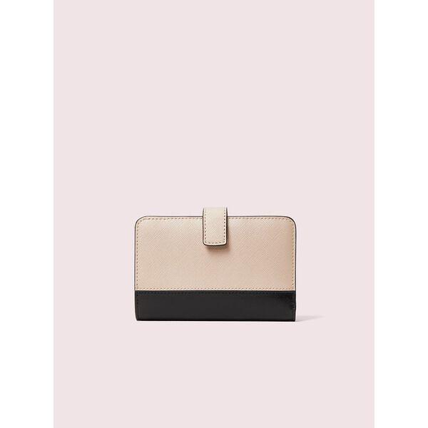 spencer compact wallet, WARM BEIGE/BLACK, hi-res