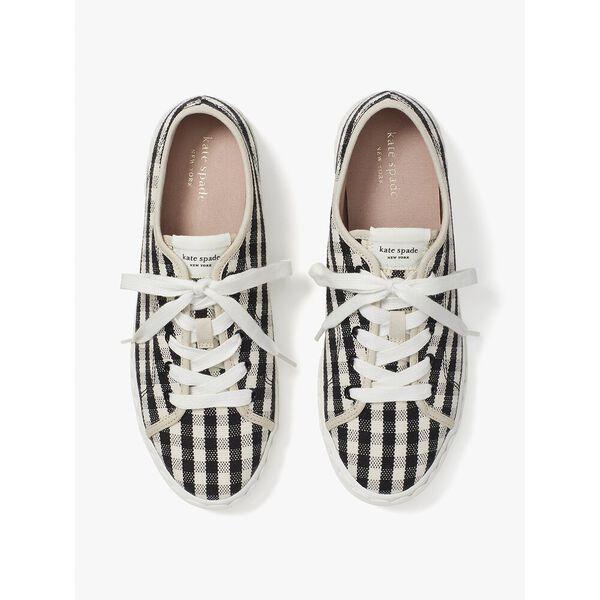 vale sneakers, gingham black/cream, hi-res