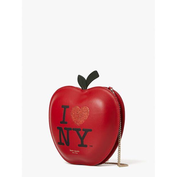 i heart ny x kate spade new york big apple crossbody, red multi, hi-res