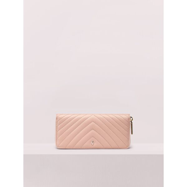 amelia slim continental wallet, flapper pink, hi-res