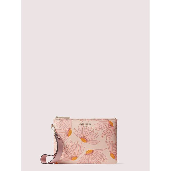 spencer falling flower small pouch wristlet