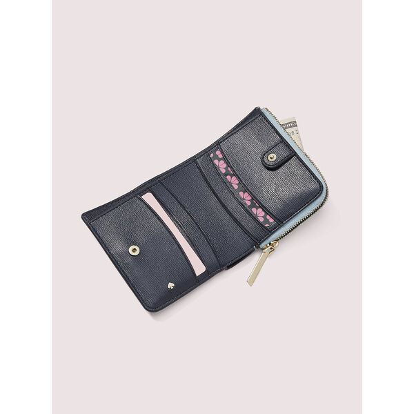 spencer cherries small bifold wallet, BLACK MULTI, hi-res