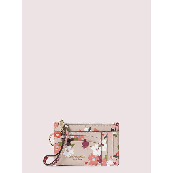 spencer cherry blossom cardholder wristlet, pink multi, hi-res