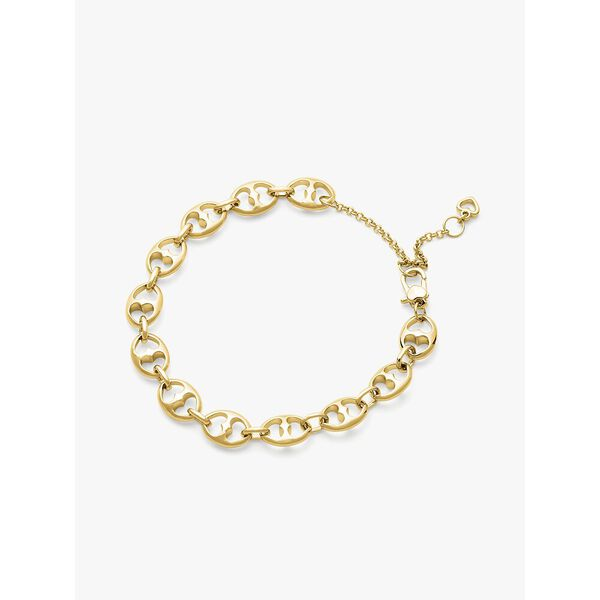 duo link chain bracelet, GOLD, hi-res