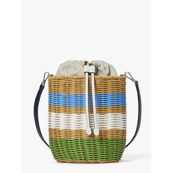 buoy wicker medium bucket bag