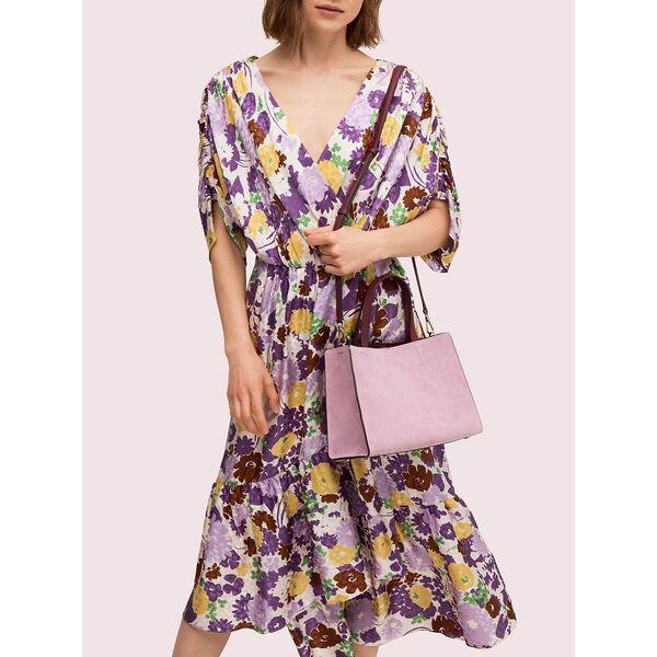 sam suede medium satchel, orchid, hi-res