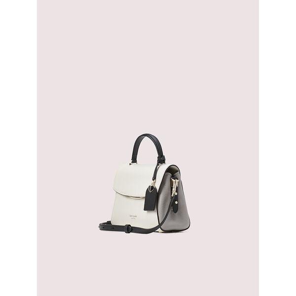 grace small top handle satchel, parchment multi, hi-res