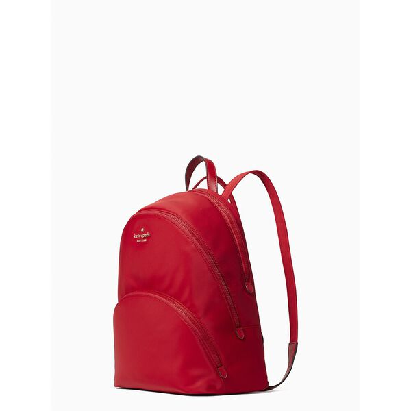 karissa nylon large backpack, favorite red, hi-res