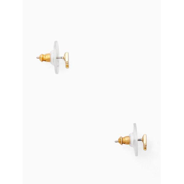 signature spade mini studs, gold, hi-res