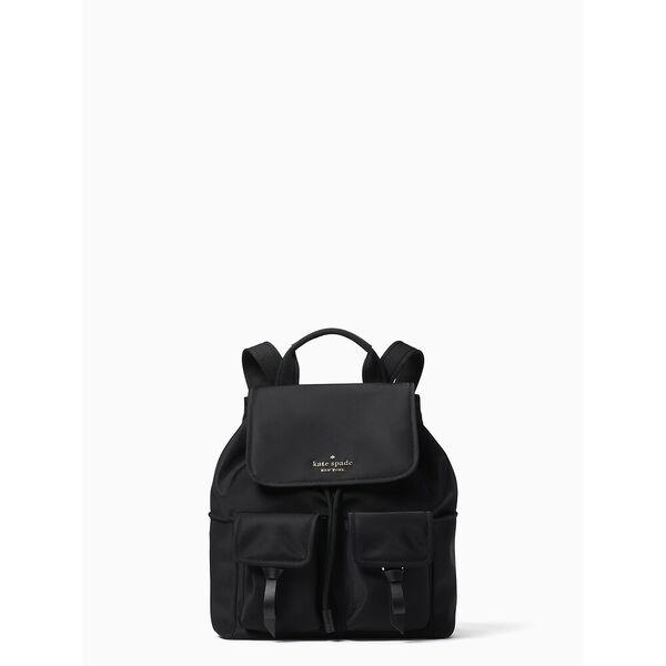 carley flap backpack, black, hi-res