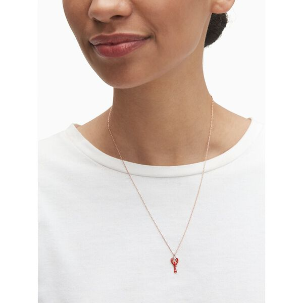 love lobster mini pendant, red multi, hi-res