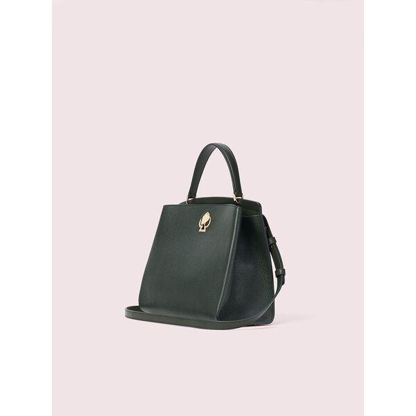 romy medium satchel, deep evergreen, hi-res