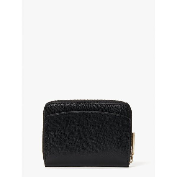 spencer small compact wallet, black, hi-res