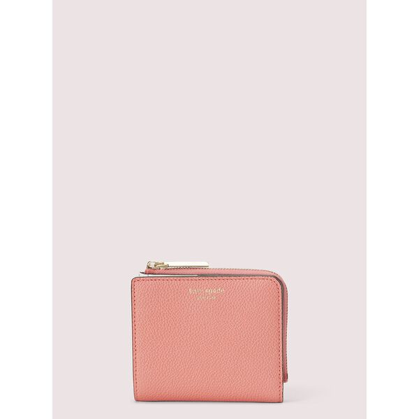 margaux small bifold wallet, lychee, hi-res