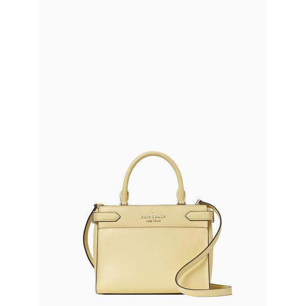 staci small satchel, butter, hi-res