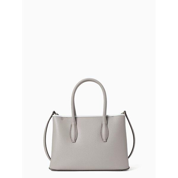 eva small top zip satchel, softtaupe, hi-res
