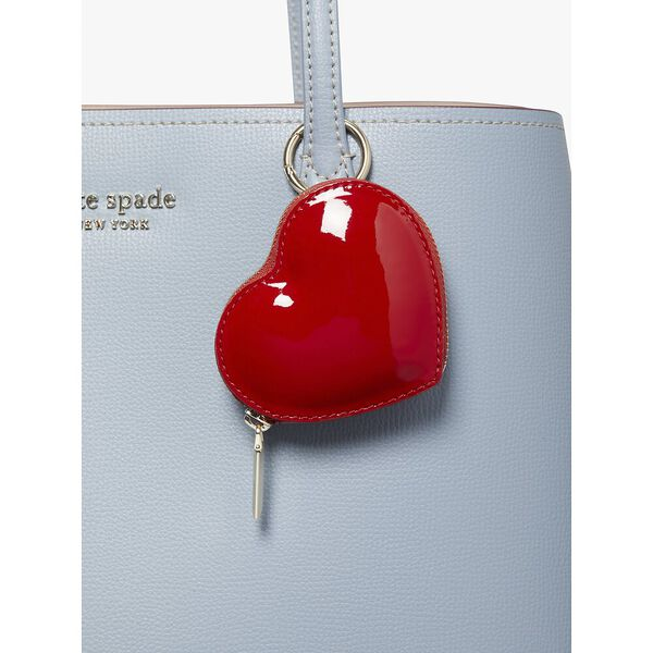 3d heart coin purse, red currant, hi-res