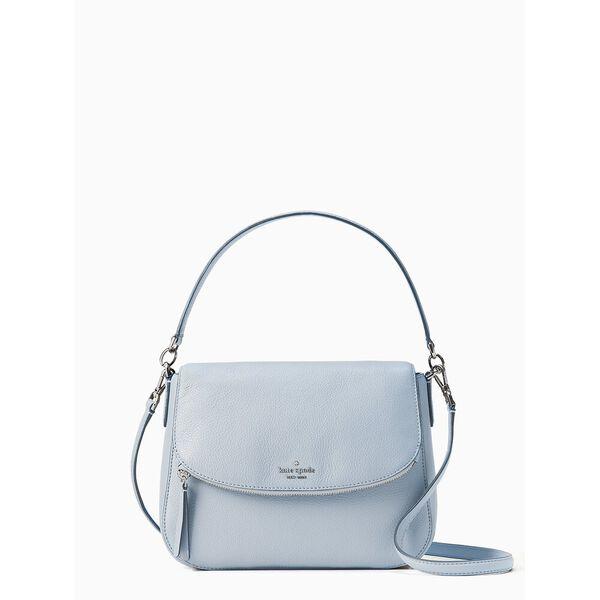 jackson medium flap shoulder bag, FROSTED BLUE, hi-res