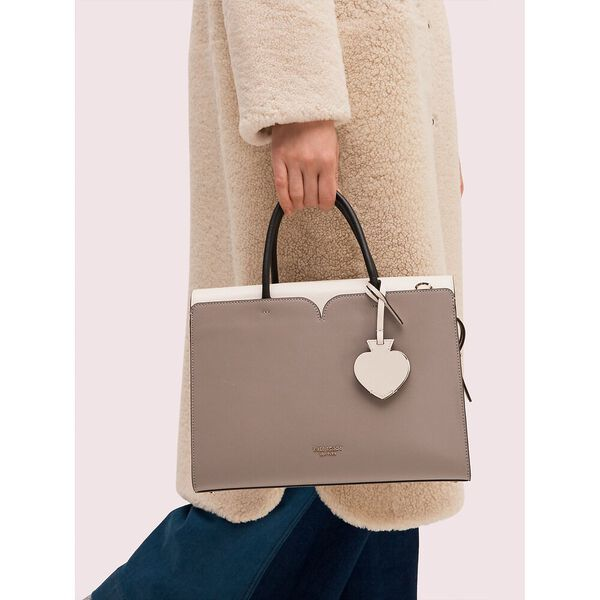 spencer large satchel, true taupe, hi-res