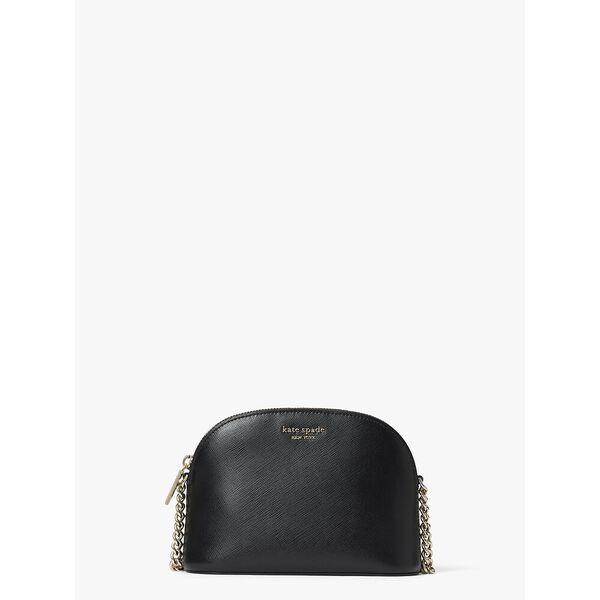 spencer small dome crossbody, black, hi-res