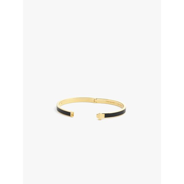 heritage spade thin enamel bangle, black, hi-res