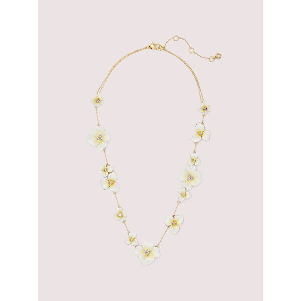 precious pansy scatter necklace, YELLOW MULTI, hi-res